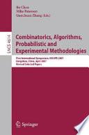 Combinatorics  Algorithms  Probabilistic and Experimental Methodologies