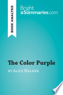 The Color Purple by Alice Walker  Book Analysis