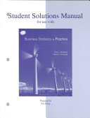 Student Solutions Manual to accompany Business Statistics in Practice Book