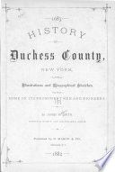 History of Duchess County  New York