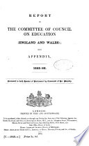 Minutes of the Committee of Council on Education Correspondence  Financial Statements  Etc   and Reports by Her Majesty s Inspectors of Schools