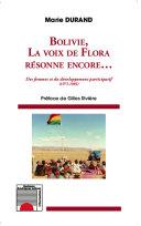 Pdf Bolivie, la voix de Flora résonne encore... Des femmes et du développement participatif (1971-1985) Telecharger