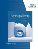 Student Workbook for Kaplan/Saccuzzo S Psychological Testing: Principles, Applications, and Issues, 8th