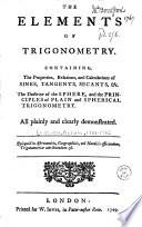 The Elements of Trigonometry