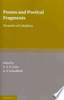 Poems and Poetical Fragments
