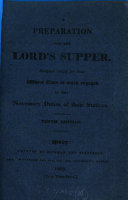 A preparation for the Lord s supper