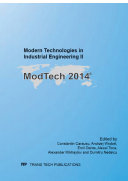 Modern Technologies in Industrial Engineering II
