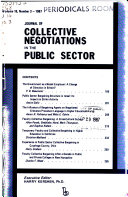 Journal of collective negotiations in the public sector Book