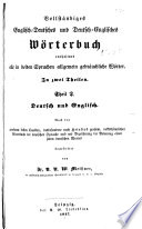 A Complete Dictionary Of The English And German And German And English Languages  Book