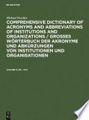Grosses W Rterbuch Der Akronyme Und Abk Rzungen Von Institutionen Und Organisationen