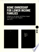 Home Ownership for Lower Income Families