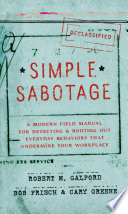 Read Online Simple Sabotage For Free
