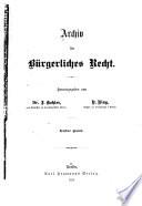 Archiv für bürgerliches Recht