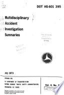 Multidisciplinary Accident Investigation Summaries