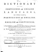 A Dictionary of the Portuguese and English Languages, in Two Parts, ebook