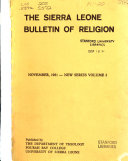 The Sierra Leone Bulletin of Religion