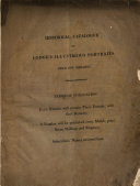 An Historical Catalogue of an Exhibition of Portraits, etc