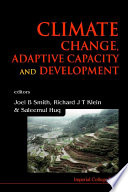 Climate Change  Adaptive Capacity and Development