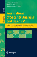 Foundations of Security Analysis and Design V