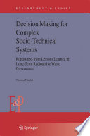 Decision Making For Complex Socio Technical Systems Book PDF