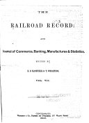 Railroad Record and Journal of Commerce, Banking, Manufactures and Statistics