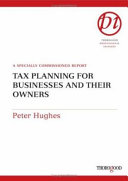 Tax Planning for Businesses and Their Owners