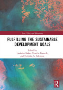 Fulfilling the Sustainable Development Goals