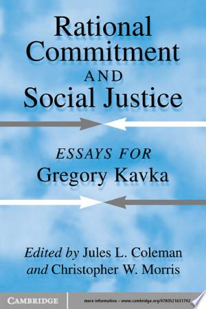 Download Rational Commitment and Social Justice Free PDF Books - Free PDF