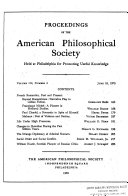Pdf Proceedings, American Philosophical Society (vol. 114, No. 3, 1970) Telecharger