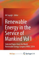 Renewable Energy In The Service Of Mankind Vol I Book PDF