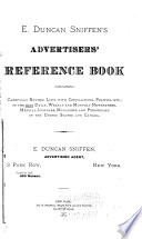 E Duncan Sniffen S Advertisers Reference Book