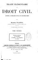 Traité élémentaire de droit civil