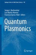 Quantum Plasmonics Pdf/ePub eBook