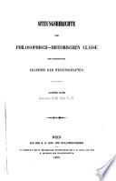 Sitzungsberichte der Philosophisch-Historischen Klasse der kaiserlichen Akademie der Wissenschaften  , Band 8