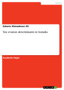Tax evasion determinants in Somalia