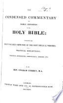 The Condensed Commentary and Family Exposition of the Holy Bible     Book PDF