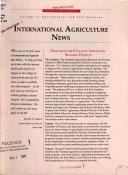 International Agriculture News
