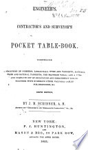 Engineer S Contractors And Surveyor S Pocket Table Book