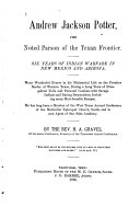 Pdf Andrew Jackson Potter, the Noted Parson of the Texan Frontier