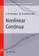 Nonlinear Continua Book