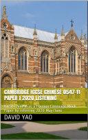 Cambridge IGCSE Chinese Foreign Language  0547 21  2018 Reading