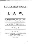 Ecclesiastical Law