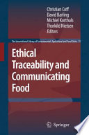 Ethical Traceability And Communicating Food Book PDF