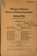 Woman s National Farm and Garden Association Bulletin