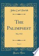 The Palimpsest, Vol. 3