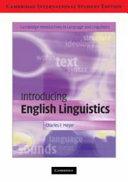 Introducing English Linguistics International Student Edition