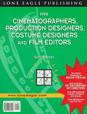 1998 Cinematographers  Production Designers  Costume Designers  and Film Editors Guide