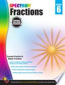 Fractions Workbook  Grade 6