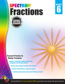 Fractions Workbook, Grade 6