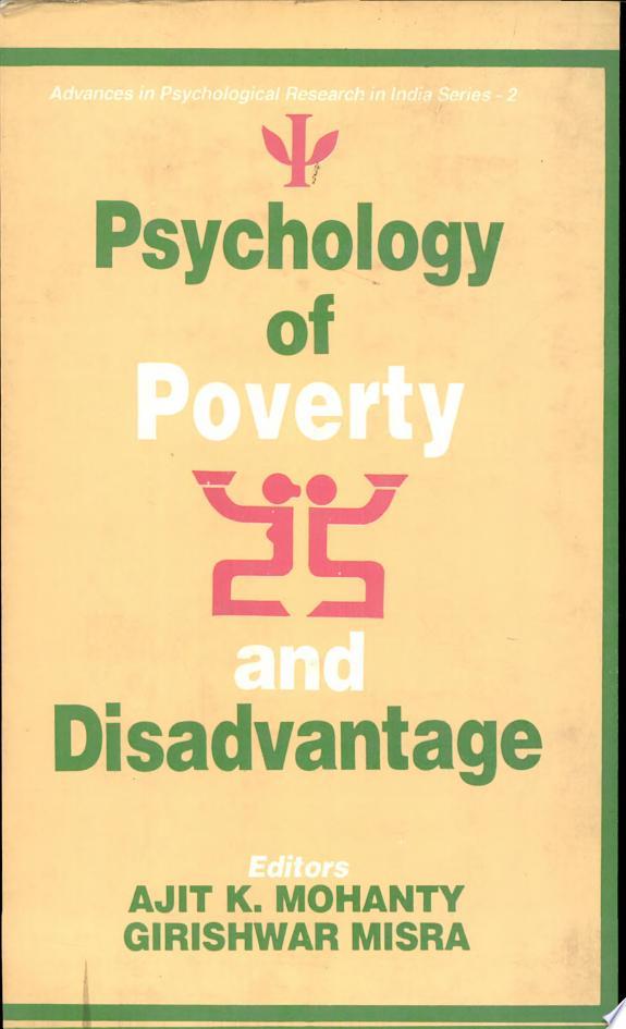 Psychology of Poverty and Disadvantage